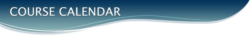 Course Calendar Banner